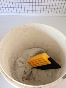 didyke tiling kitchen 14 - white grout mixture