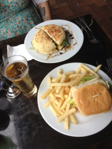Australia Day lamb burger and chicken pesto @ Ya Ya Bar
