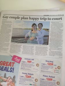 gay couple plan happy trip to court