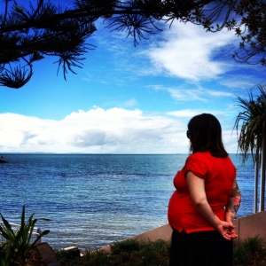 my lovely wife - 1 day before due date