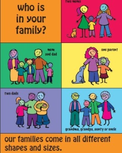 families come in all different shapes and sizes - people