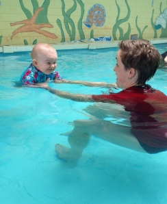 quin's swimming lesson week 2 - 4