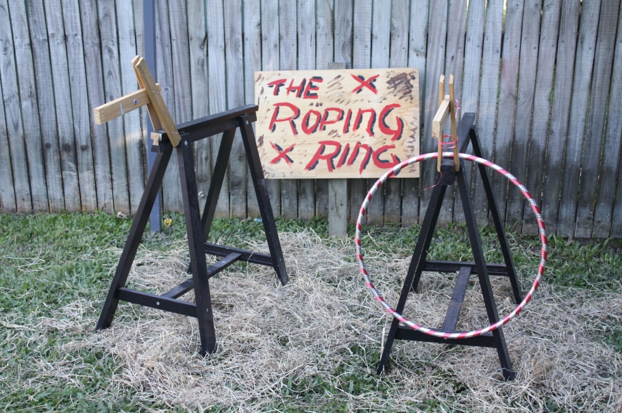 Wild west cowboy party - sawhorse horses