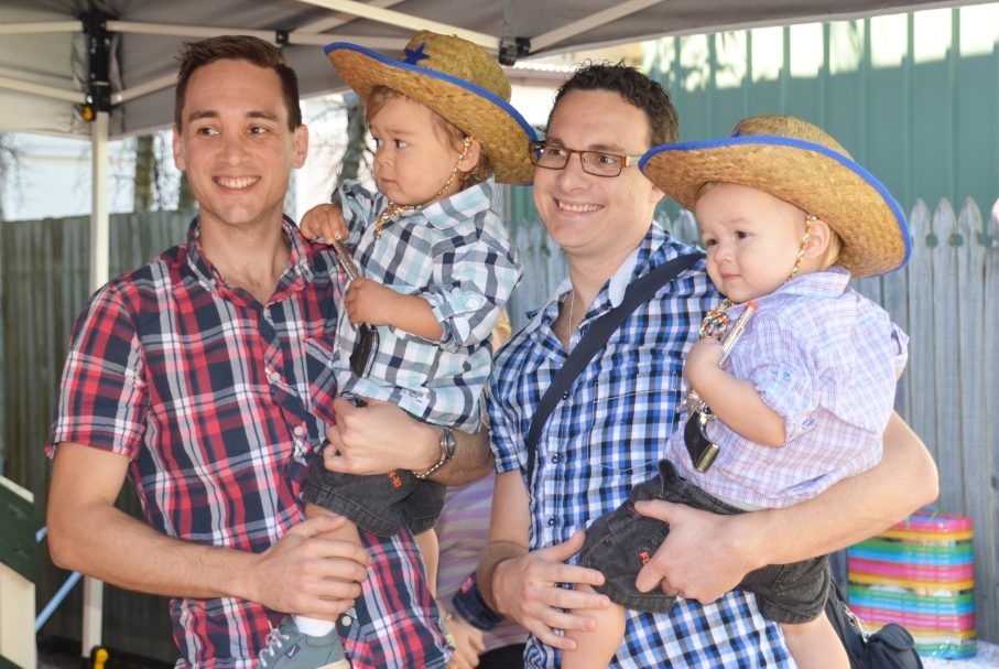 wild west Cowboy party - gay dads