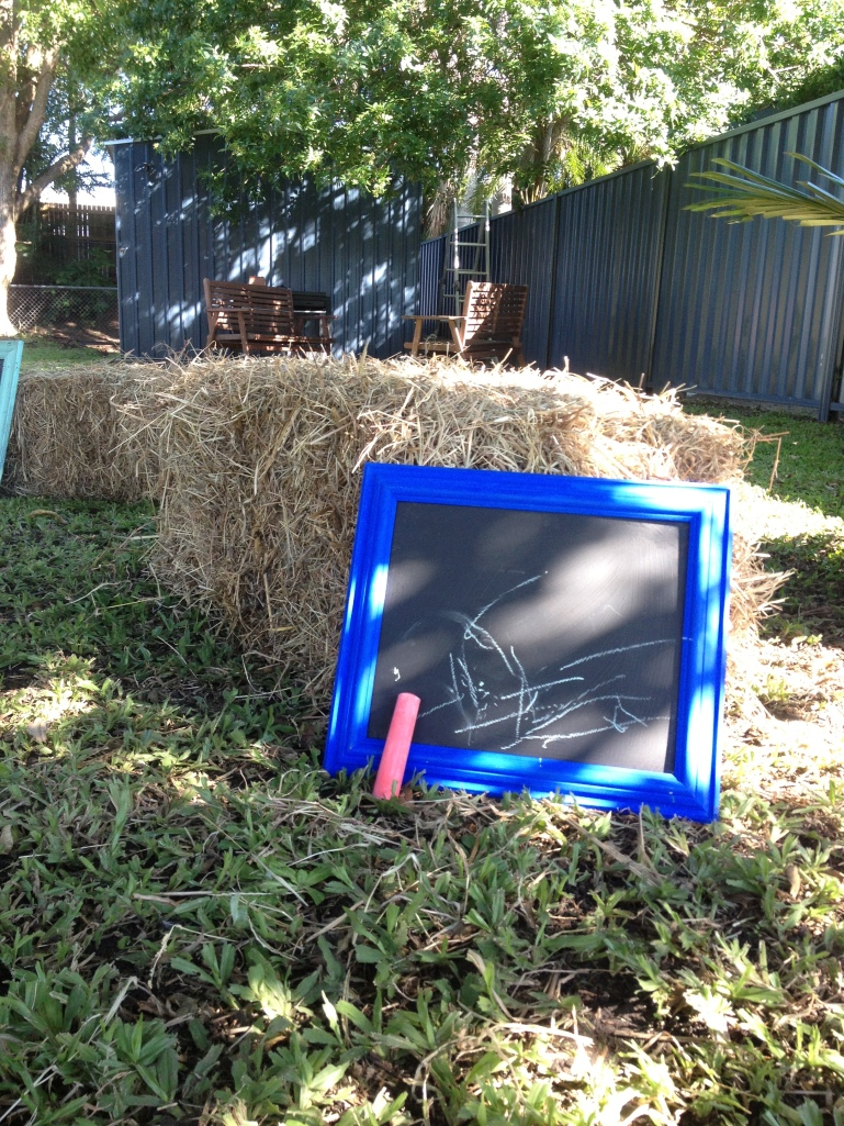 Wild west cowboy party - upcycled chalk boards