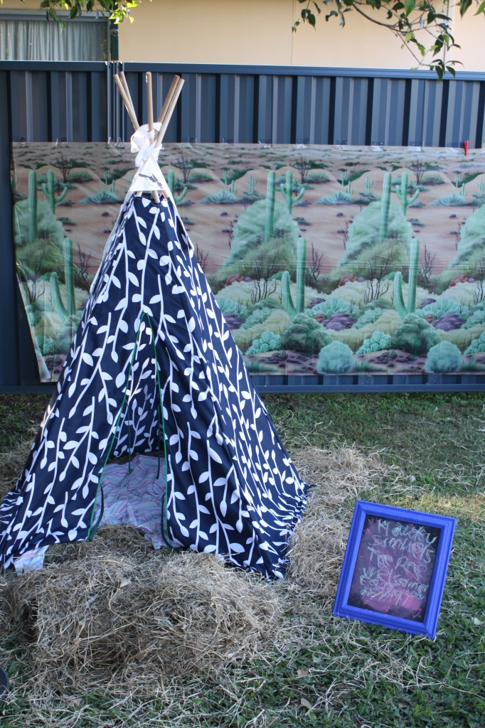 Wild west cowboy party - handmade teepee