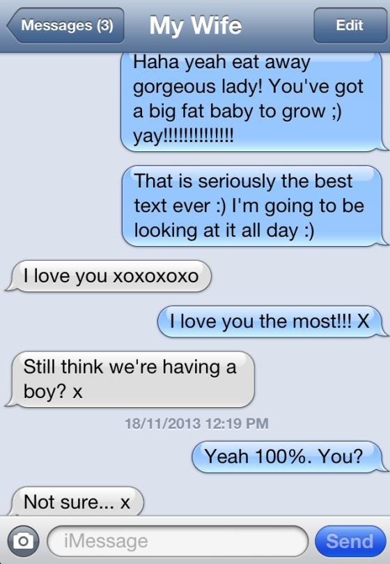 positive pregnancy text 2